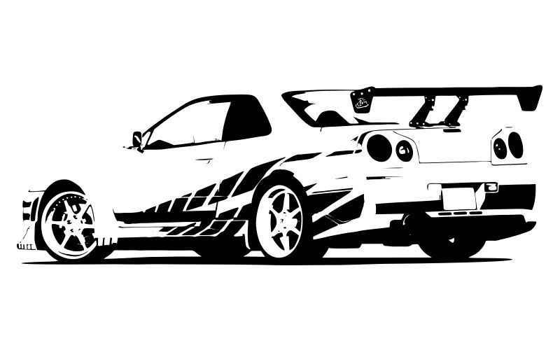 FAST AND FURIOUS - Nissan Skyline - STICKYEDGE | KIDS ...