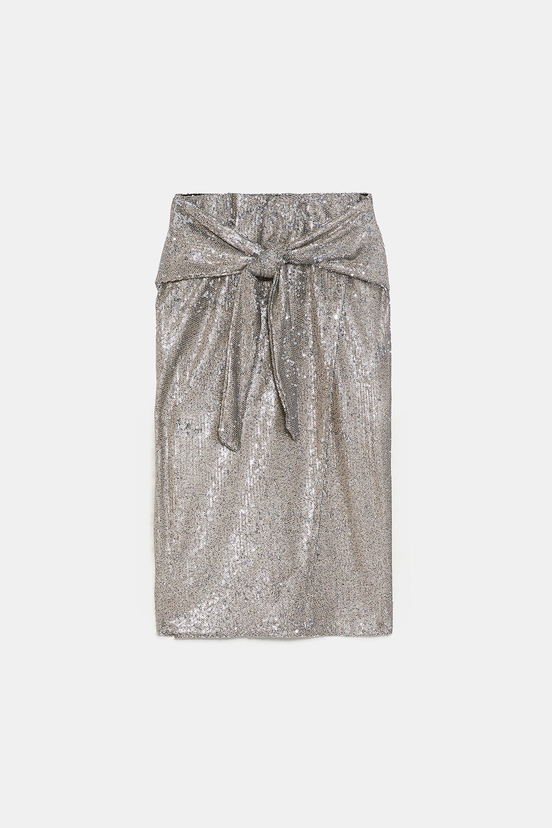 cfa4edb9f6 Image 8 of KNOTTED SEQUIN SKIRT from Zara