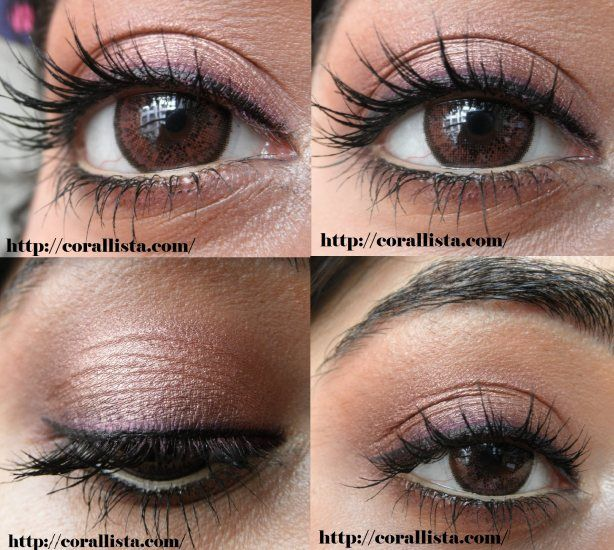 Neutral plum eye makeup Tutorial with MAC eye shadows
