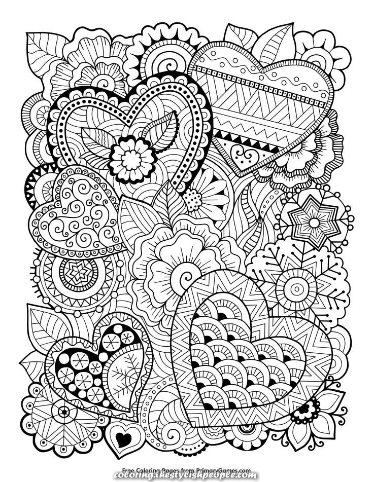 Excellent Ebook Coloring For Valentine 39 S Day Zentangle Hearts Love Coloring Pages Heart Coloring Pages Valentine Coloring Pages