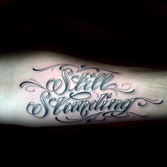 60 Fuerza Tatuajes Para Los Hombres Masculino Word Design