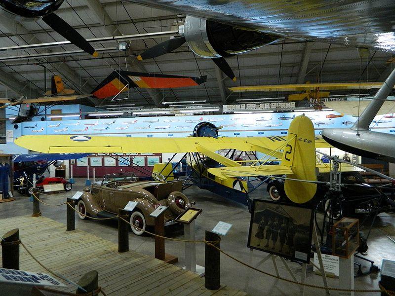 Just one corner of the civil aviation hangar. Civil
