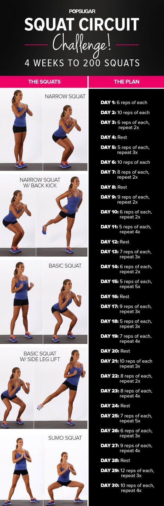 3fe1f8b7ca Change the Shape of Your Butt With This 30-Day Squat Challenge