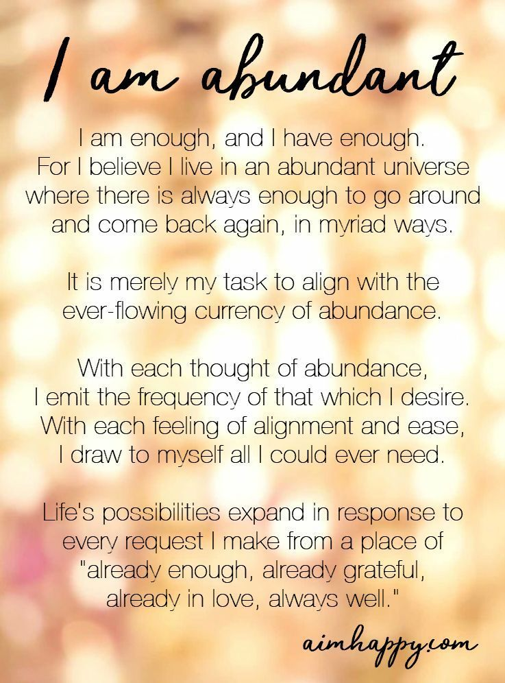 11 Affirmations for Abundance to Make You Feel Supported & Enough (You Are)
