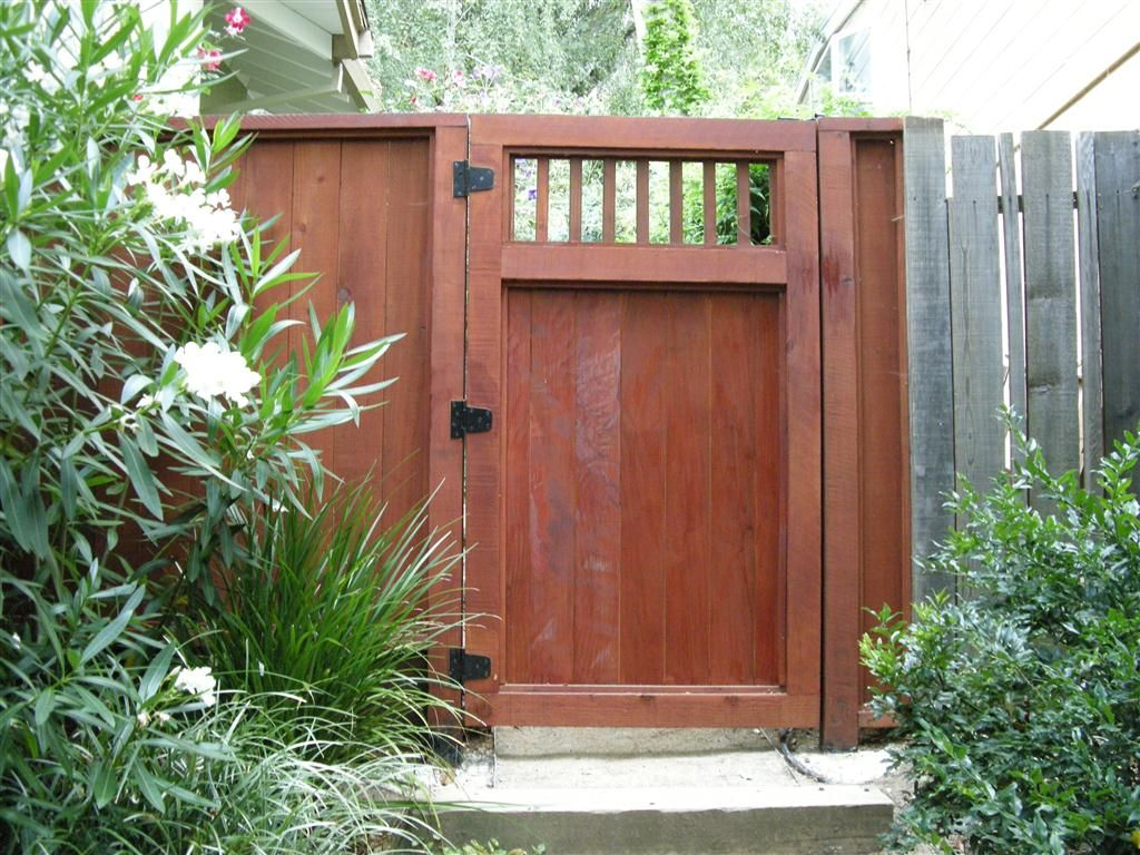 Side Yard Wooden Gates