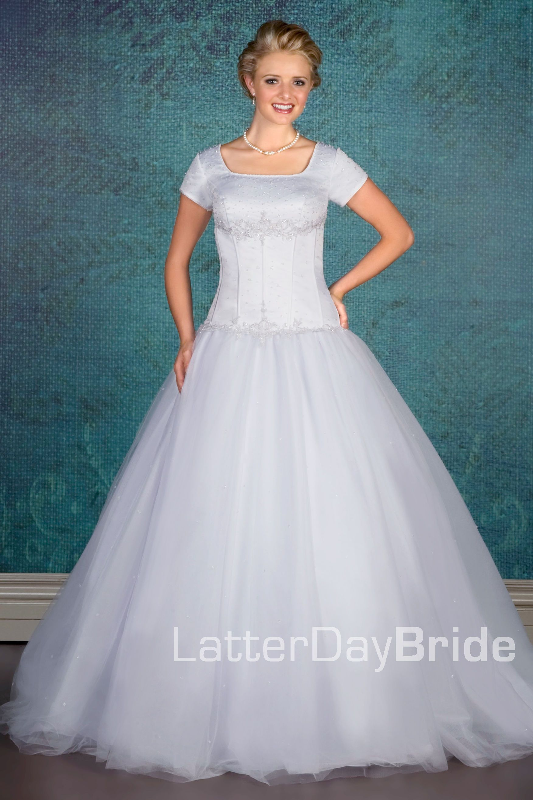 Love how it has like a built in corset and a tulle ballgown skirt
