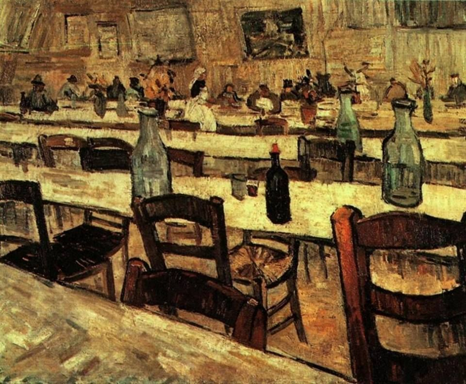 Vincent Van Gogh - (1853-1890) inside of a restaurant of arles