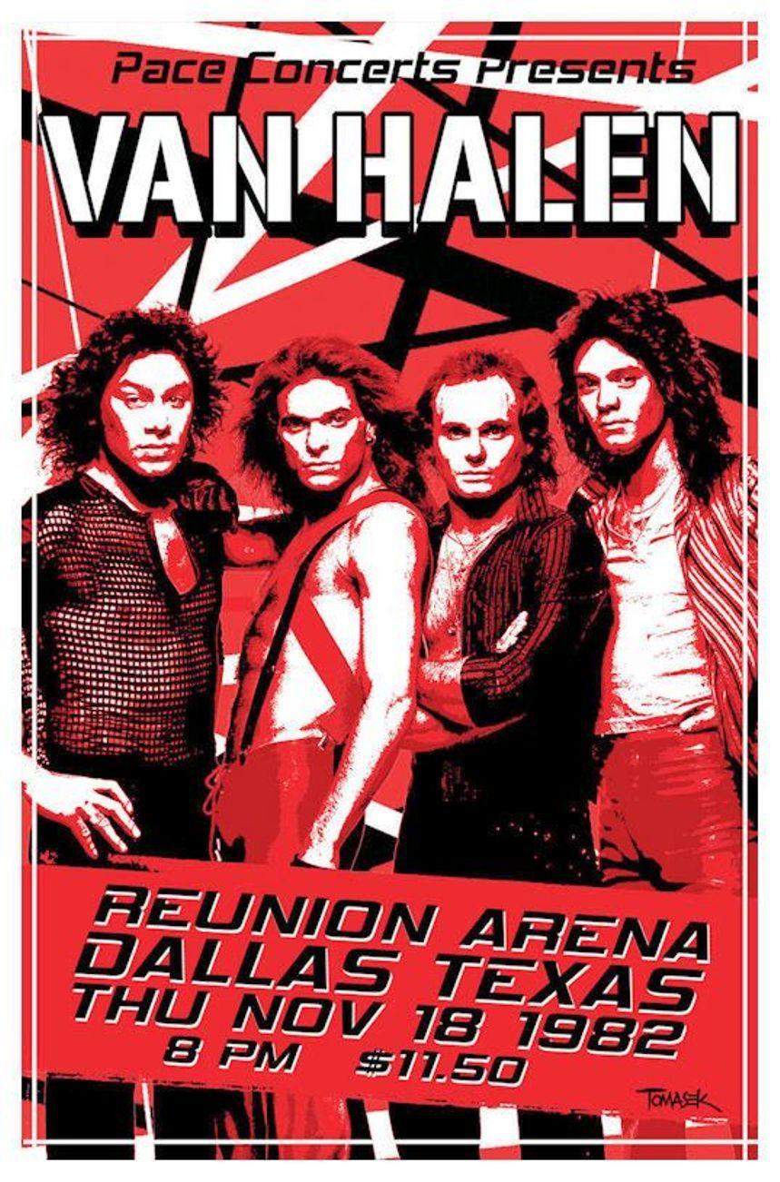 Van Halen Reunion Arena Dallas Tx 1982 Vintage Concert Posters Music Poster Music Concert Posters