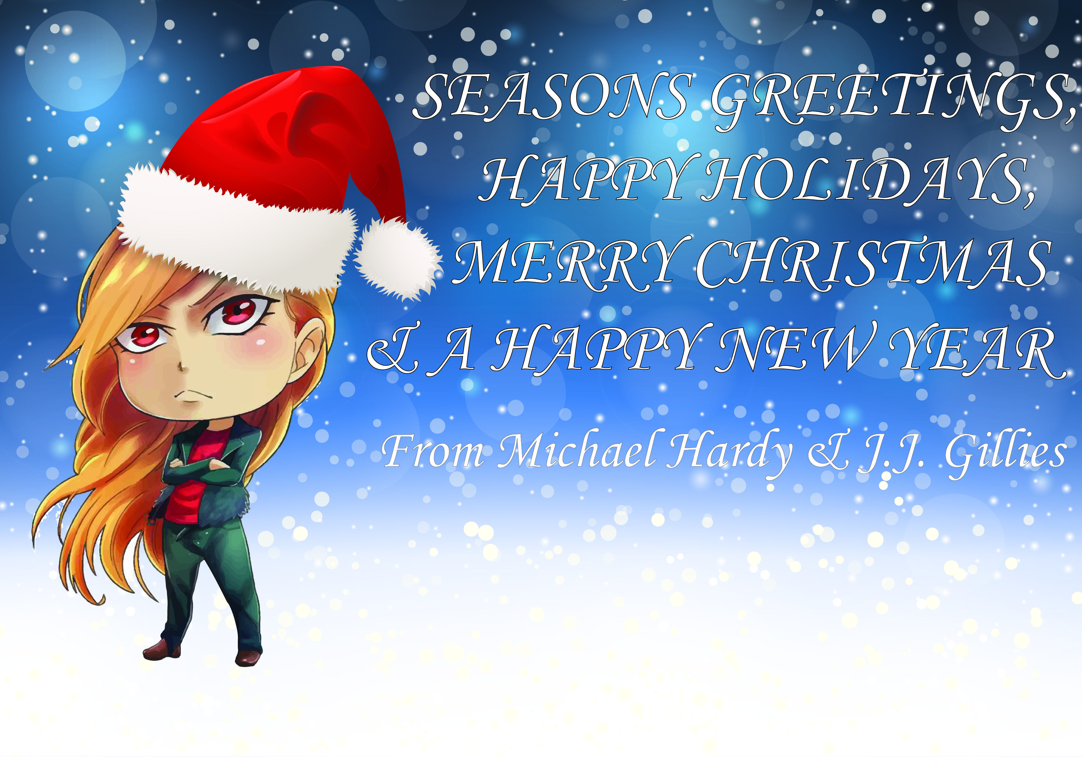 We michael hardy and jj gillies writers of the kris hellion writers of the kris hellion series would like to wish you all a seasons greetings happy holiday a merry christmas and a happy new year to kristyandbryce Choice Image