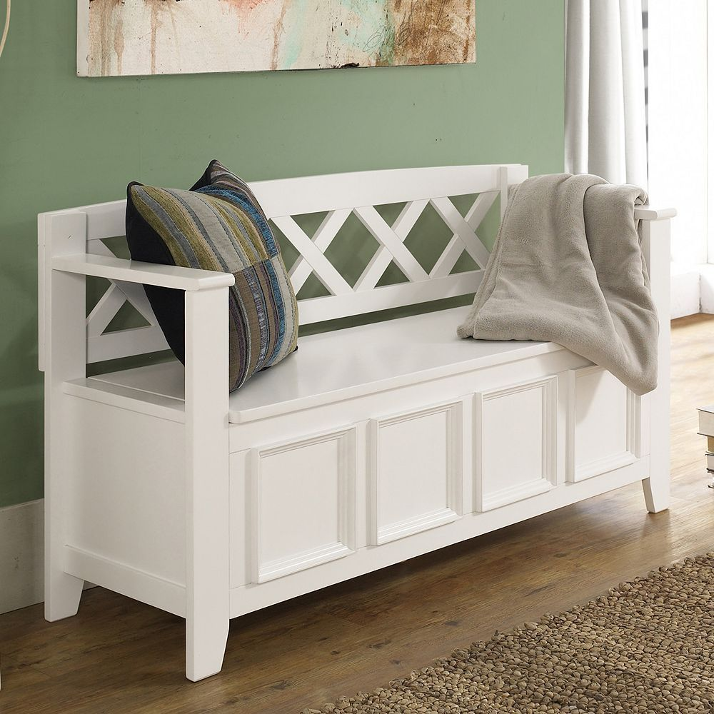 Simpli Home Amherst Pine Entryway Storage Bench Entryway Bench Storage Entryway Storage Storage Bench Seating