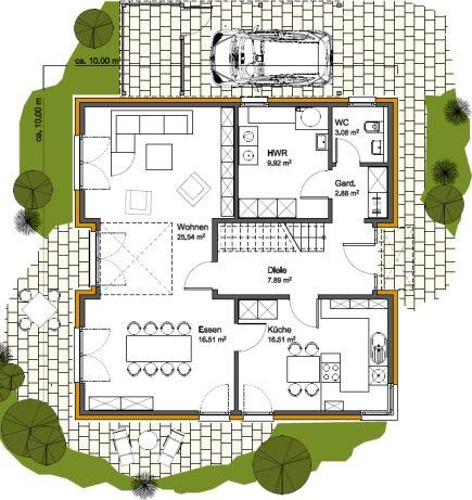 Delightful Bockermann Fritze DesignHaus GmbH   Ansicht, Grundriss, Variante,  Wohnflächeu2026