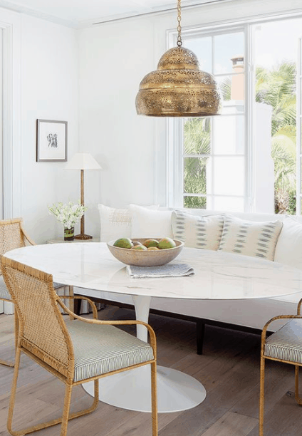 Breakfast Nook Square Booth Round Table Breakfast Nook