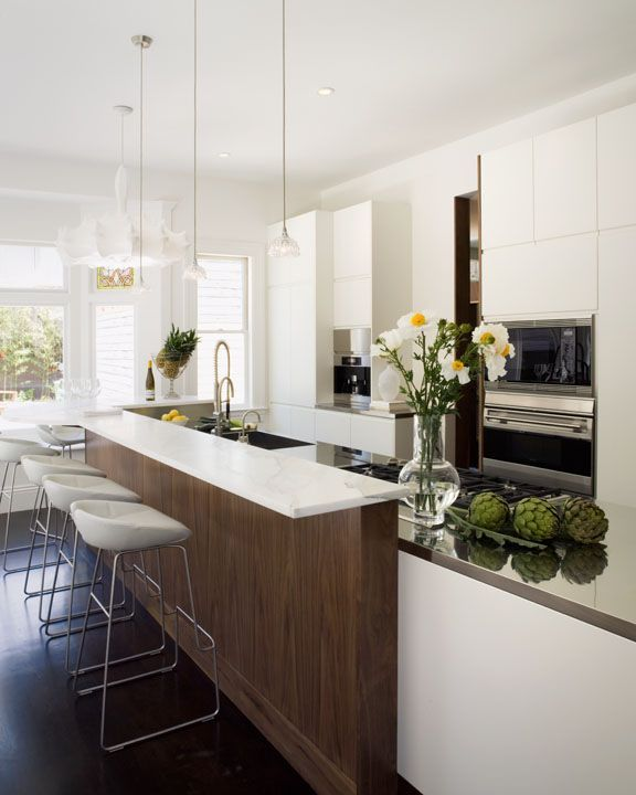 This stunning white kitchen was completed by Arclinea San Francisco