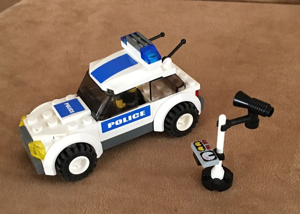 7236 Lego City Police Car Complete Blue Stickers Speed Trap Town Lego City Police Lego City Police Cars