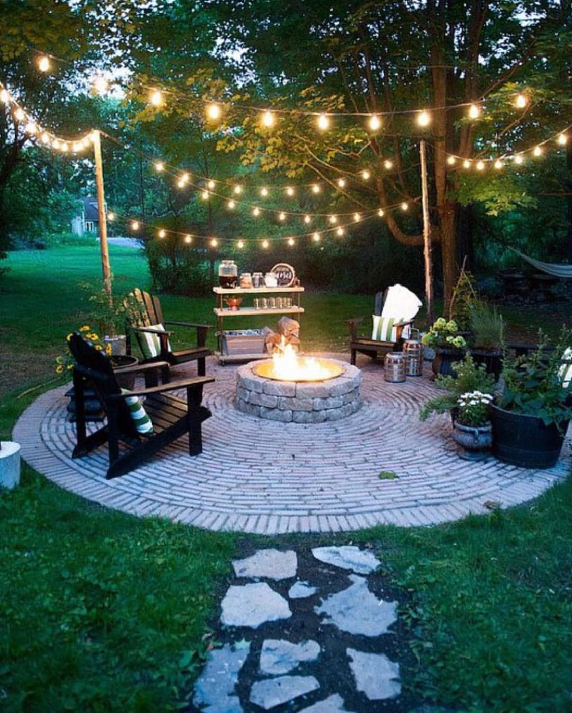 Simple Outdoor Area Love The Cute Lights Dream Looks For