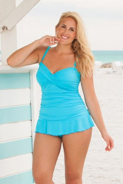 2a644b89b6 Always for Me's sexy two piece plus size tankini swimsuit -seen in PLUS  Model Magazine and Seventeen Magazine! This summer's hottest new plus size  swimsuit ...