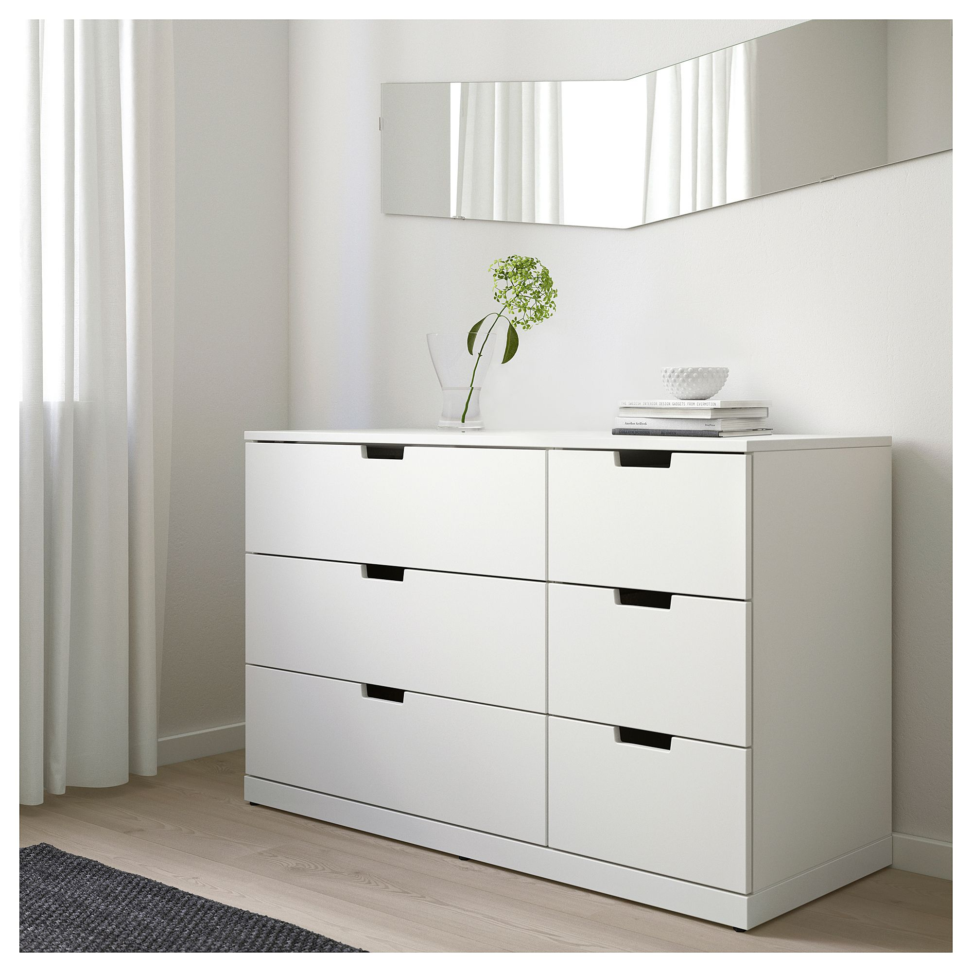 Nordli Chest Of 6 Drawers Anthracite 120x76 Cm Ikea Ikea Nordli Dresser Drawers 6 Drawer Dresser [ 2000 x 2000 Pixel ]
