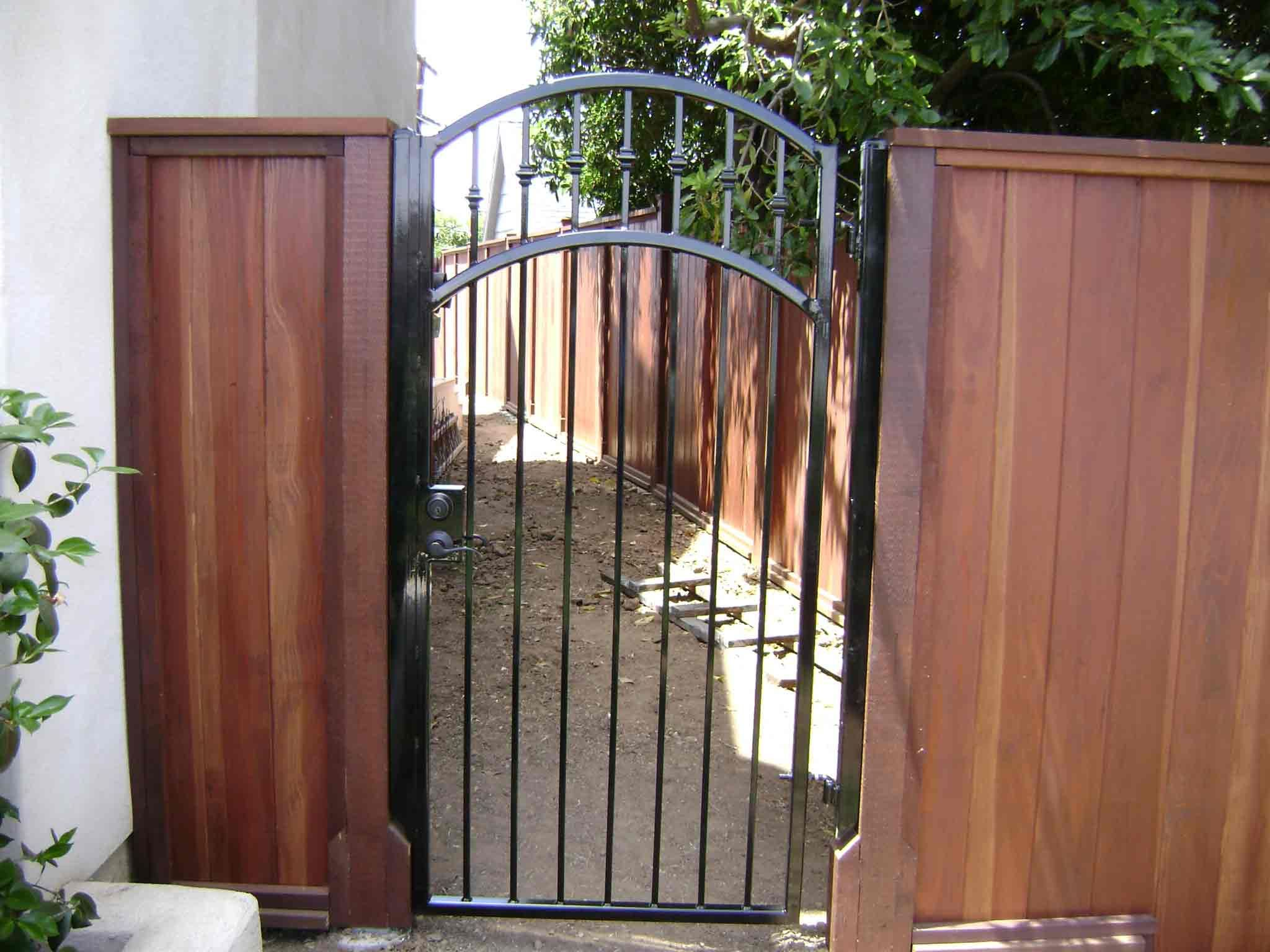 San Diego Residential Wood Wrought Iron Gate Iron Fence Gate