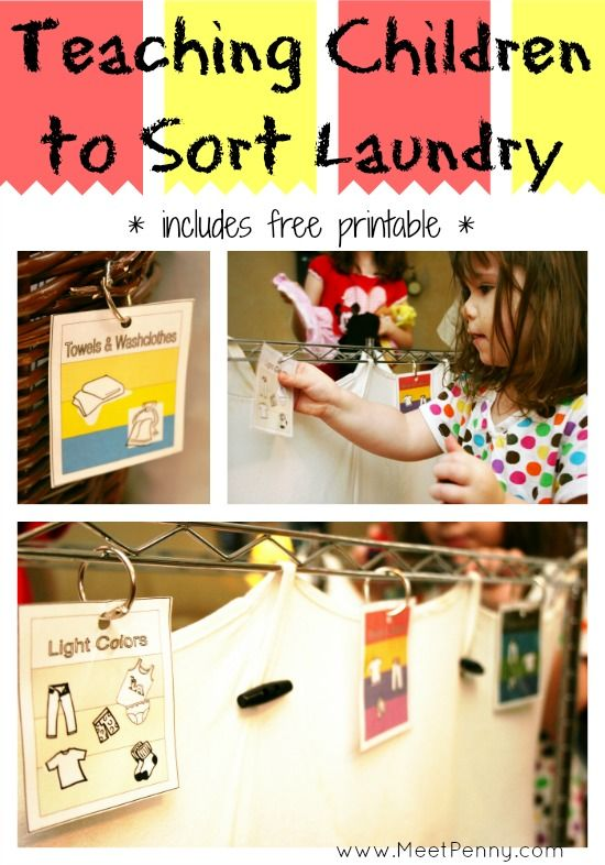 teaching children to sort laundry ultimate homeschool board teaching kids laundry sorting. Black Bedroom Furniture Sets. Home Design Ideas