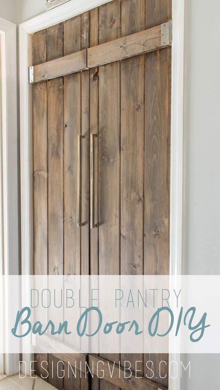 Double Pantry Barn Door DIY Under $90- Bifold Pantry Door DIY