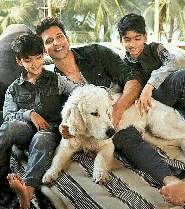 Hrithik and sons | Hrithik roshan, Hrithik roshan family ...