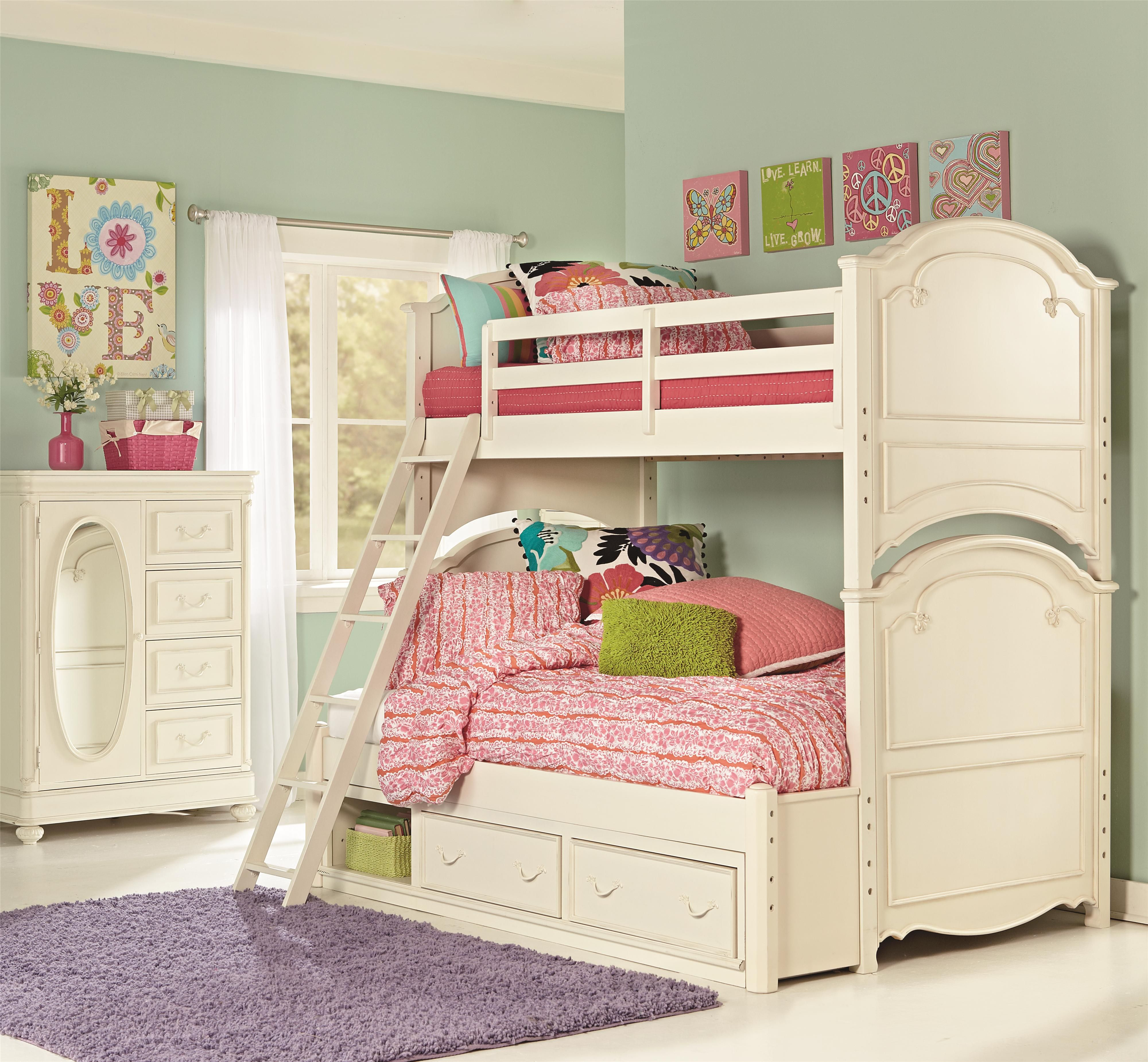 Slumber Party This Bedroom Is Calling For One Girls Bunk Beds Bunk Bed Designs Kids Bunk Beds