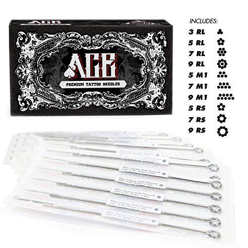 Ace Needles 50 Mixed Assorted Tattoo Needles 10 Sizes Round Liner Shader Magnum Check Out This Great Pro Tattoo Needles Tattoo Needle Sizes Tattoo Supplies