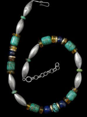 517f1ba429c8 Collar de piedras duras y plata I Plata Nativa