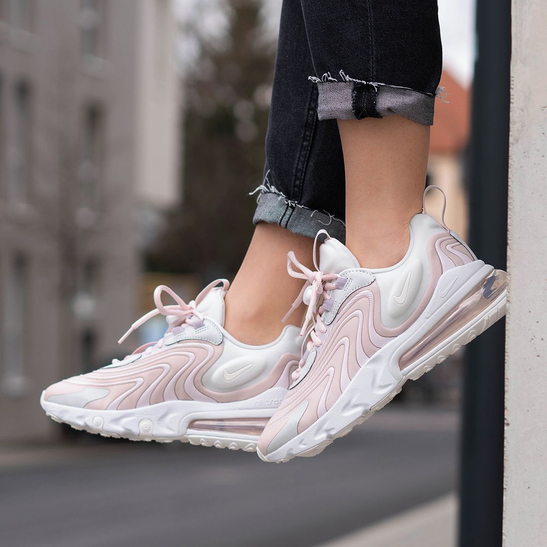 Nike Wmns Air Max 270 React Eng In Pink Ck2595 001 Everysize In 2020 Nike Air Max Frauen Nike Air Schuhe Sneakers Mode
