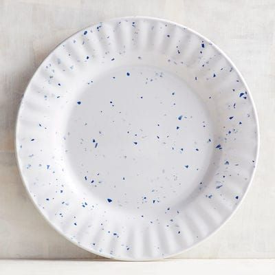 Blue Speckled Melamine Salad Plate Plates Dinnerware Outdoor Dinnerware