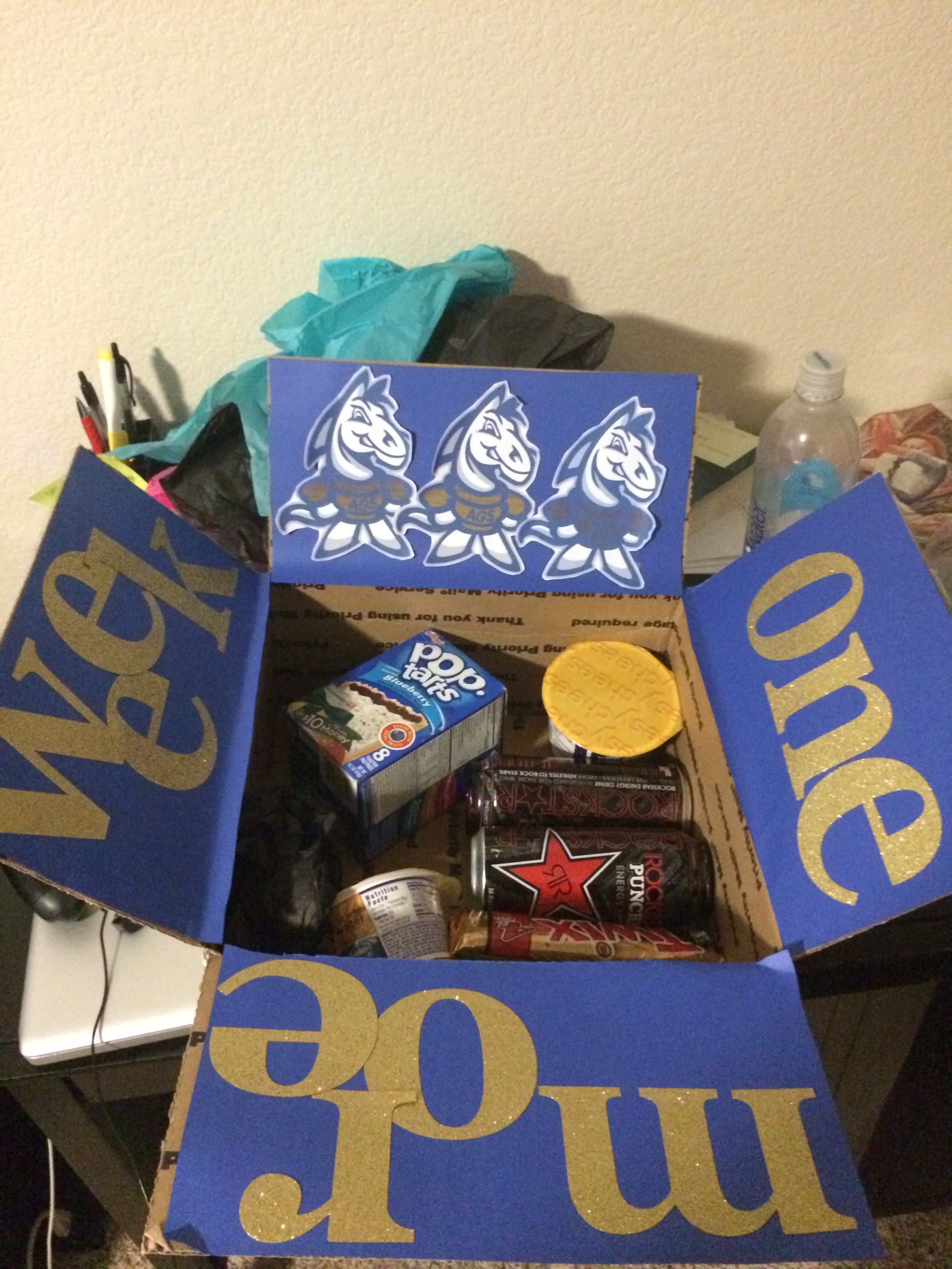 Finals week care package for ucd college gift boxes