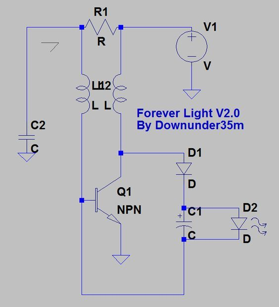 Picture Of The Forever Light A Better Joule Thief To Recycle Your Old Batteries Joule Thief Joules Thief