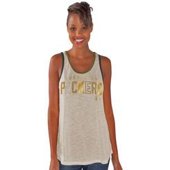 Green Bay Packers G-III 4Her by Carl Banks Women's Turnover Tank Top - White