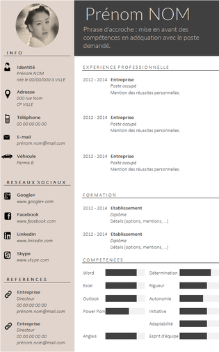 Envie D Un Cv Design Et Tendance Resume Design Cv Design Cv Design Creative