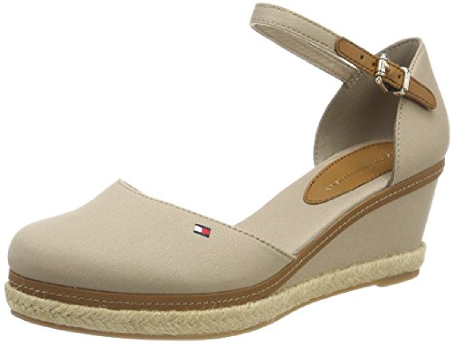 Iconic Basic Closed Toe Wedge, Espadrilles Femme, Bleu (Midnight 403), 40 EUTommy Hilfiger