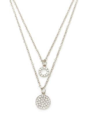 On ideel: T TAHARI Pave Drop Double Necklace