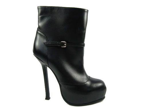 Yves saint laurent Black Tribtoo leather botas us