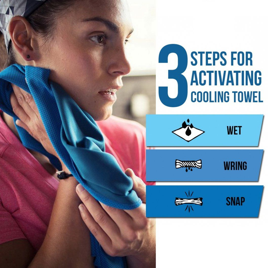 Mitovilla Cooling Towel For Neck 4 Pack Set Soft Breathable