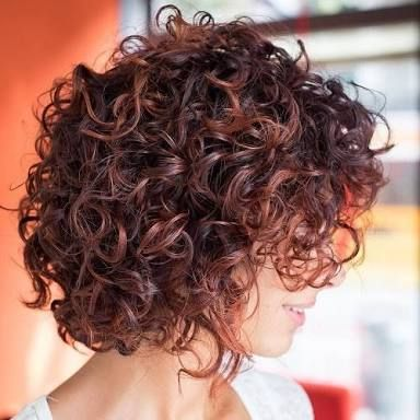 Image Result For Concave Bob Curly Coiffures Frisees Cheveux Courts Frises Cheveux Courts