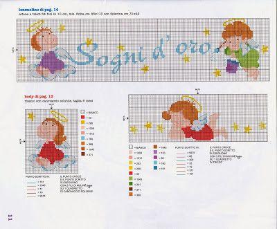 Tanti schemi punto croce per bambini lenzuolini e culle for Lenzuolini punto croce per bambini
