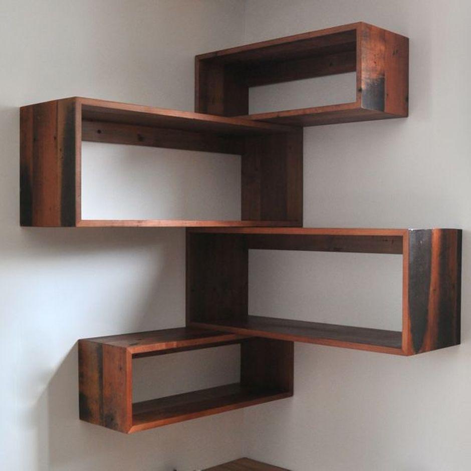 50 Attractive Corner Wall Shelves Design Ideas For Living Room Wall Shelves Design Corner Shelf Design Wall Shelves Living Room