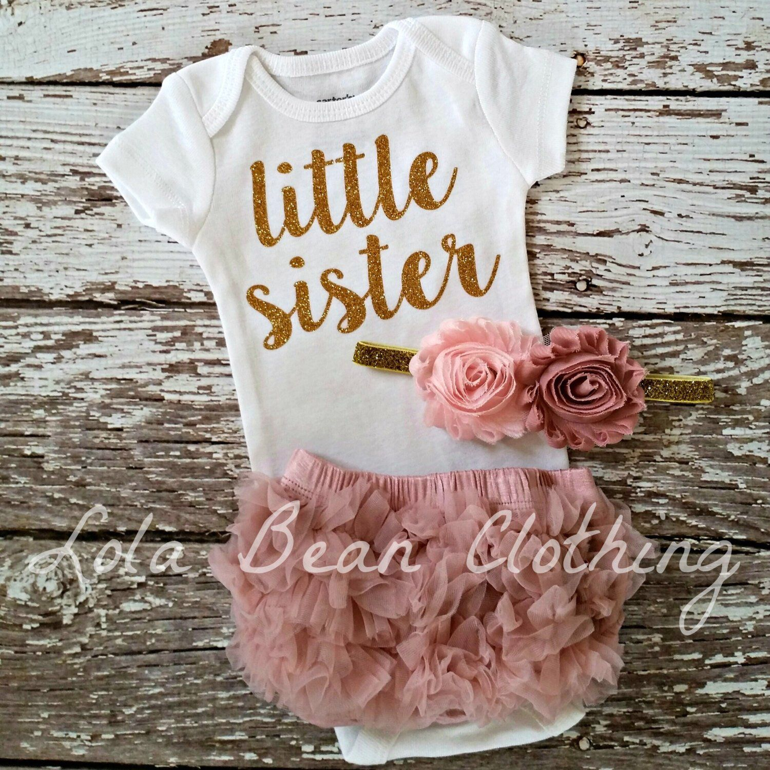PREORDER Baby Girl Coming Home Outfit, Newborn Little
