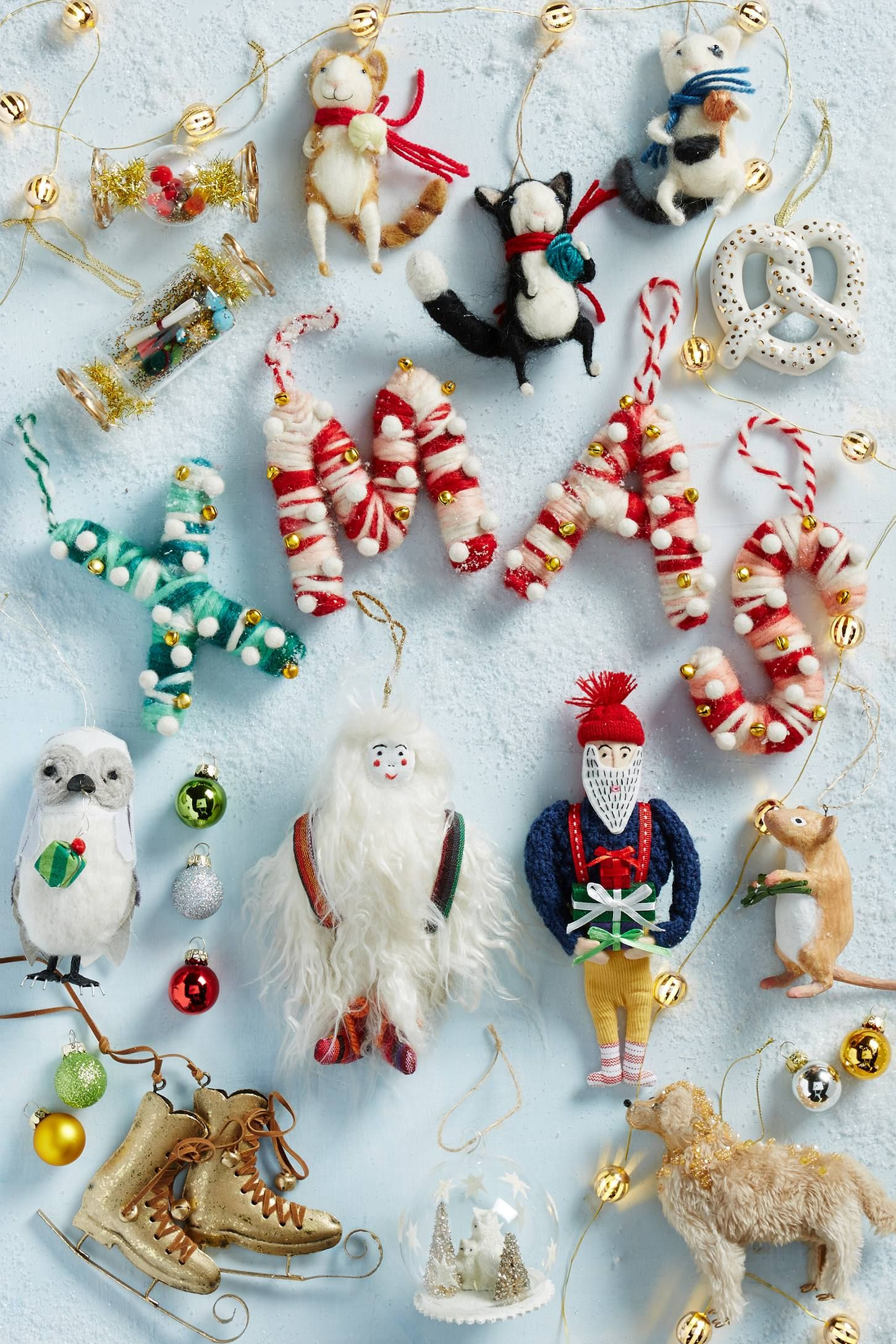 Cozy Yeti Ornament Anthropologie Com