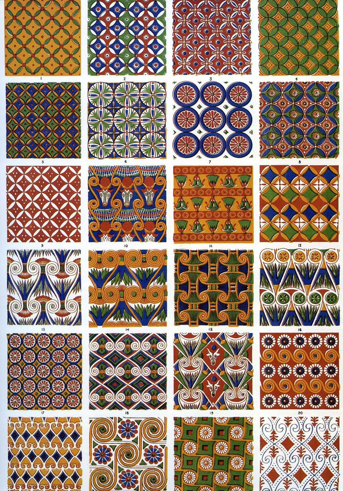 The textile blog ancient egyptian decoration as seen by for Ancient egypt decoration
