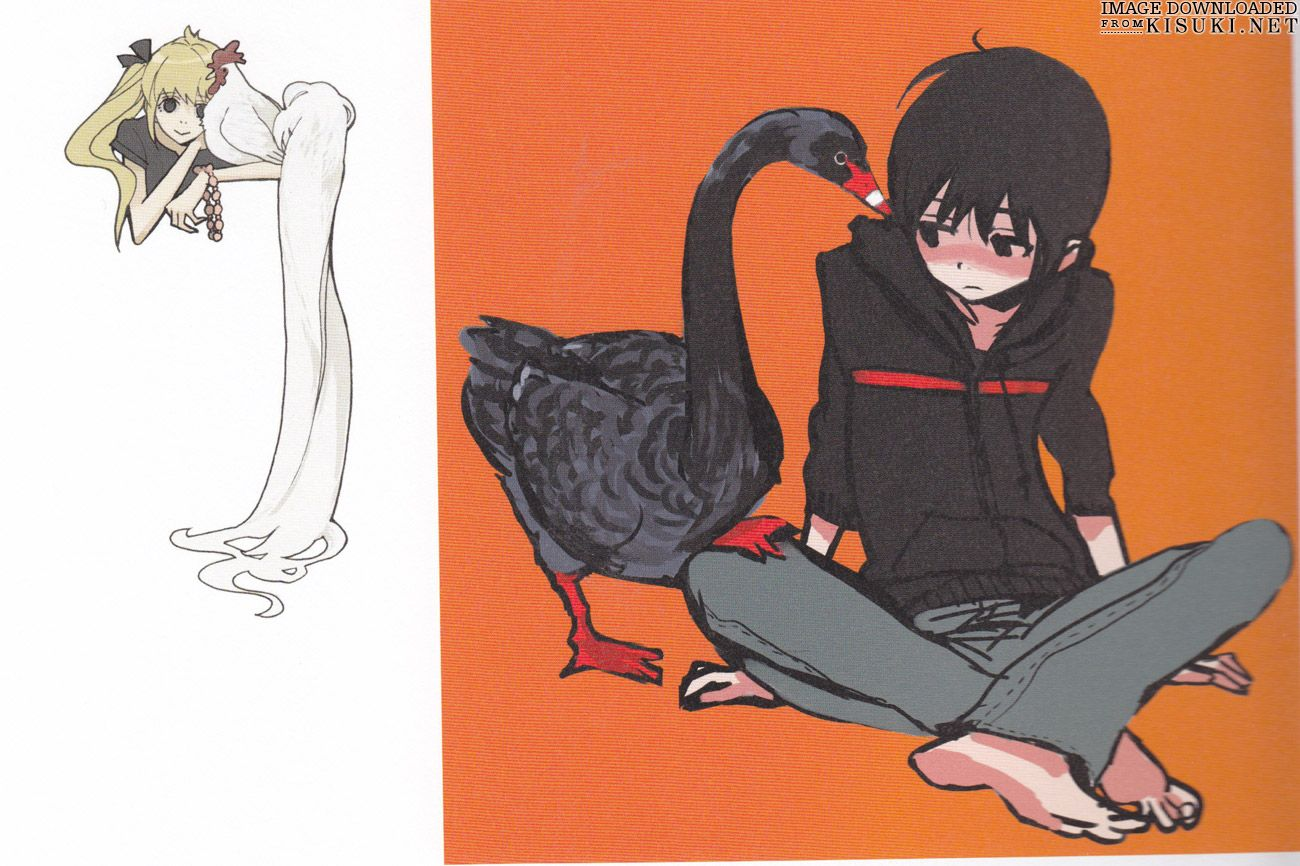 Artbooks » Yuhki Kamatani Art Book Nabari No Ou ... Nabari No Ou Raimei And Kouichi