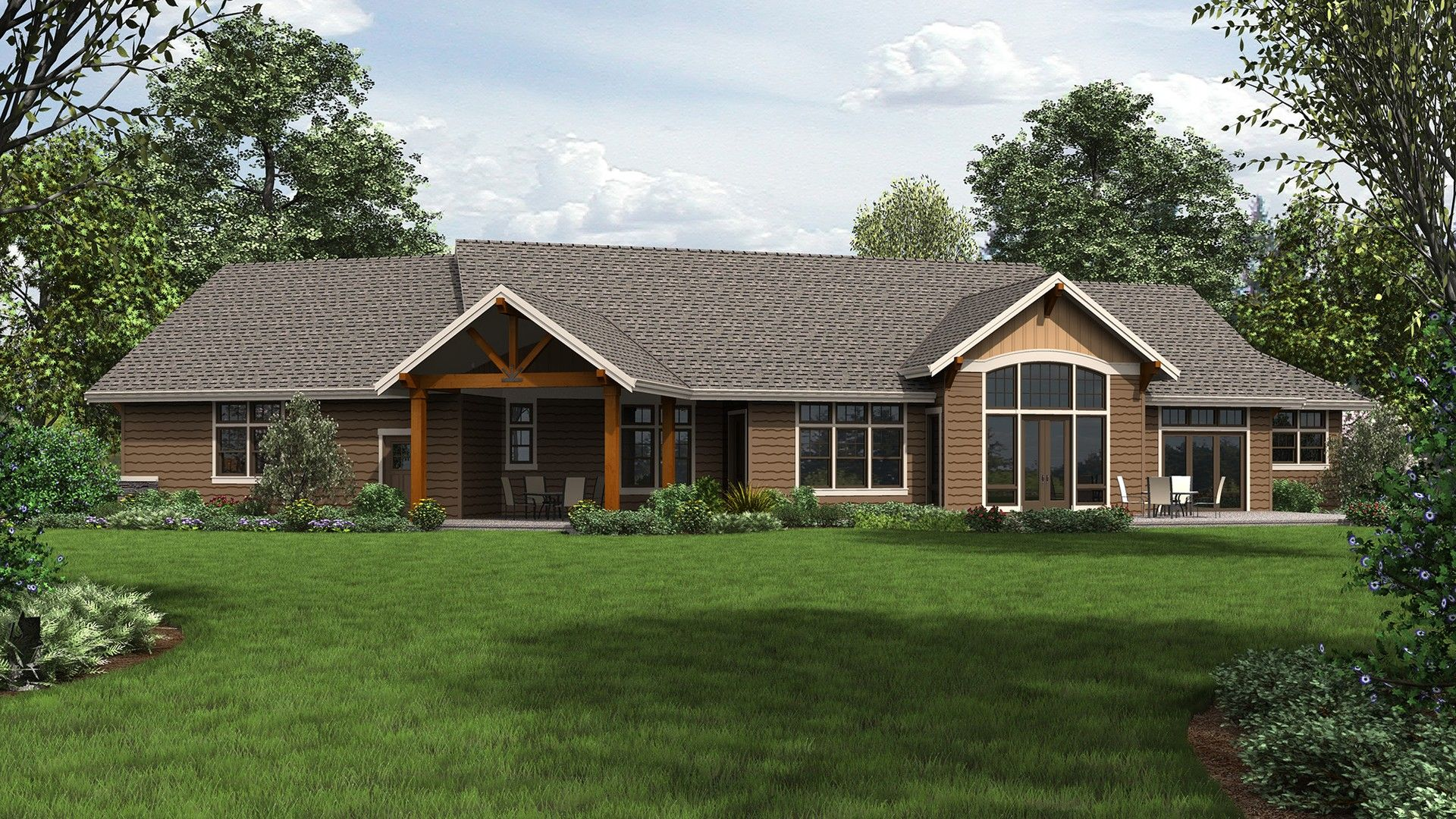 Craftsman House Plan B1250 The 2916 Sqft 3 Beds 3 Baths