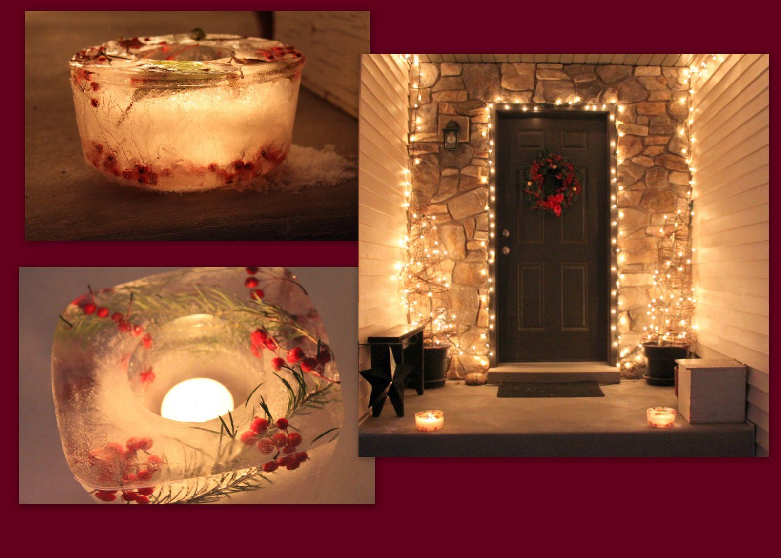 How to make christmas centerpieces with ice - Unique Outdoor Christmas Lights Ideas Ideas For Outdoor Christmas Decorations