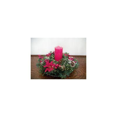 Silkmama Traditional Christmas Candle Wreath