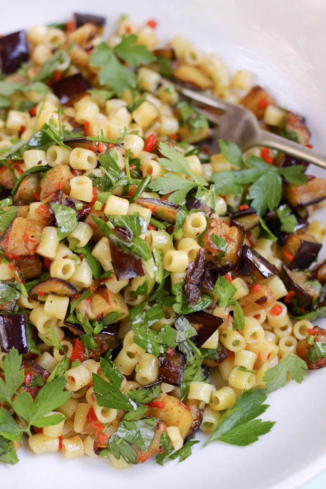 Eggplant, Chilli and Parsley Ditalini > from thegook.com