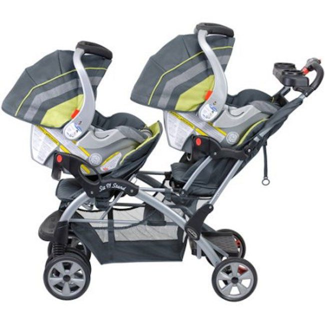 Double Stroller 2 Car Seats Twin Twins Baby Trend Combo